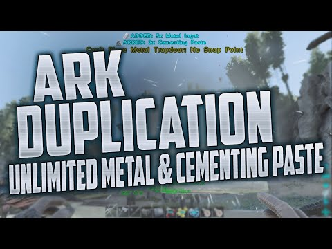 UNLIMITED METAL/CEMENTING PASTE DUPLICATION GLITCH - Ark Survival Evolved (Working Exploit)