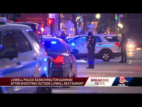Police search for gunman after shooting outside Lowell resta