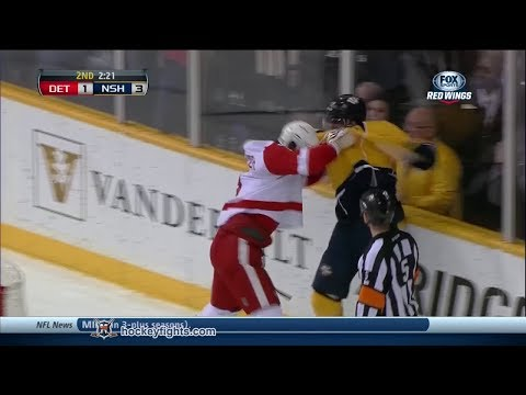 Justin Abdelkader Vs Mike Fisher Dec 30, 2013