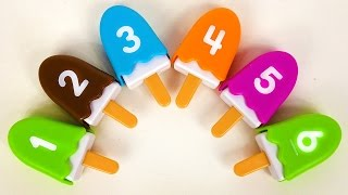learn numbers counting 1 10 for toddlers kids children with ice cream popsicle