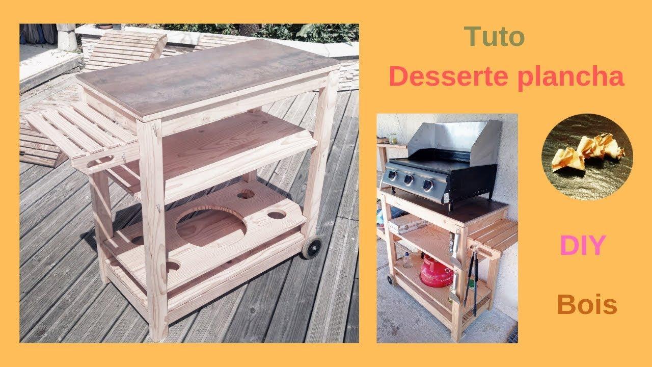 Faire Une Desserte En Bois desserte plancha chariot à roulettes en bois
