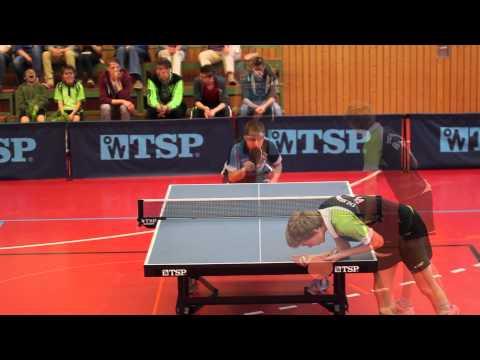 Tischtennis TSG Heilbronn: Tom Mayer VS. Roland Krmaschek (SV Neckarsulm) (HD)