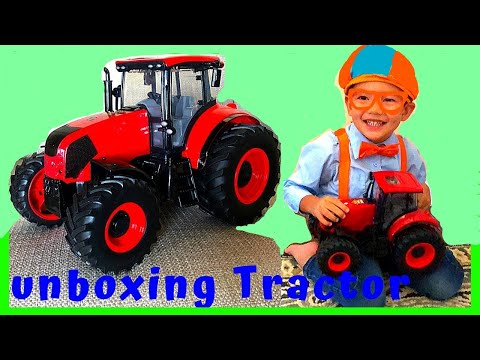 Blippi's Fan-William Unboxing Farm Tractor + Halloween Object Fun Flashlight