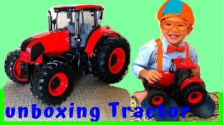 Blippi's fan-William Unboxing Farm Tractor + Halloween Object Fun Flashlight