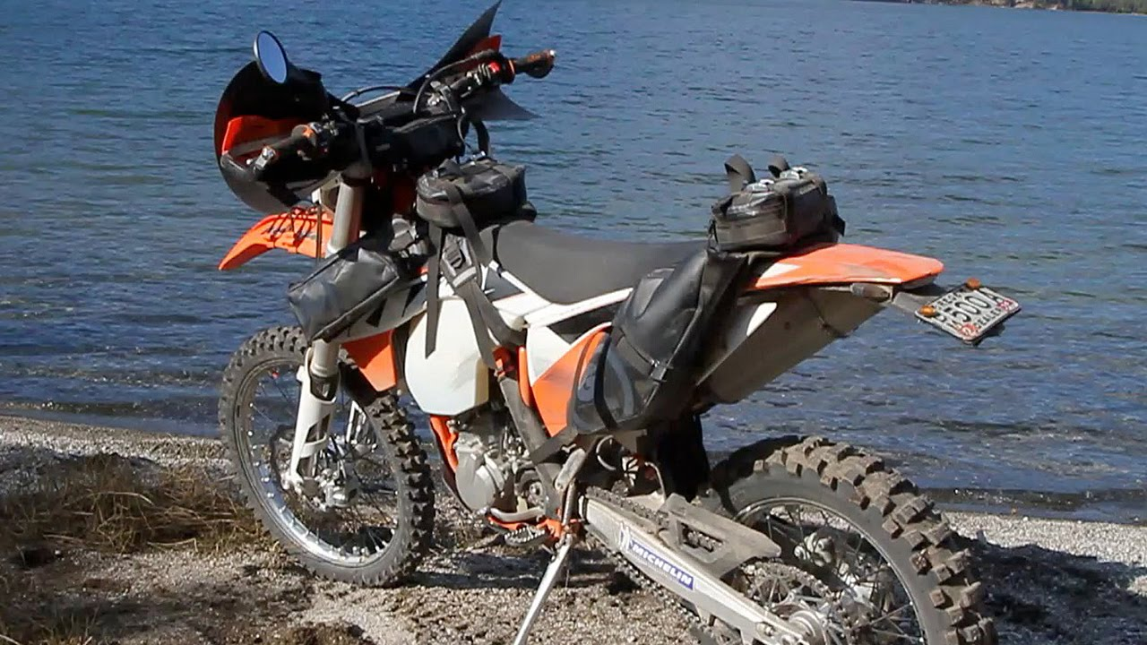 Ktm Dirt Bike With Saddlebags