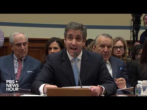 WATCH: Trump a 'conman' and 'cheat,' Michael Cohen says