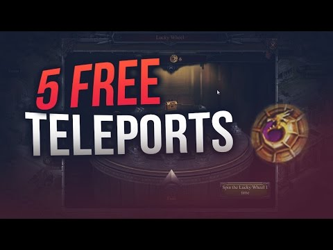 5 FREE ADVANCED TELEPORTS (CLASH OF KINGS)