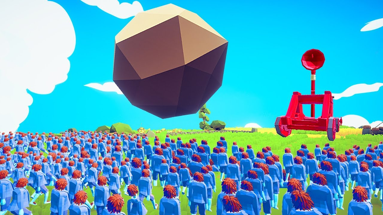 TABS 1 GIANT CATAPULT vs 10,000 PEASANTS! (Totally Accurate Battle  Simulator)