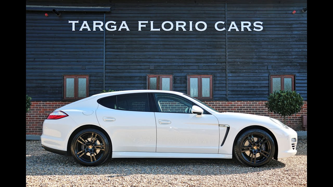 porsche panamera 30 d v6 tiptronic s in white with 20 inch gloss black turbo ii alloy wheels