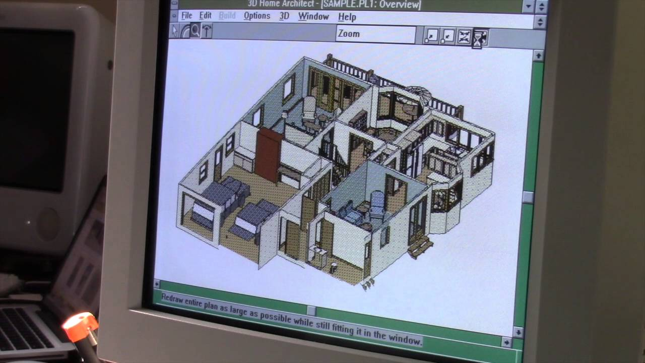 Broderbund 3D Home Architect for Windows 3 1 - YouTube
