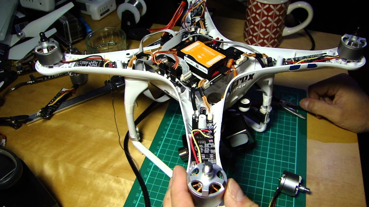 Fitting The New Dji V2 Upgrade Escs Motors To Phantom 2