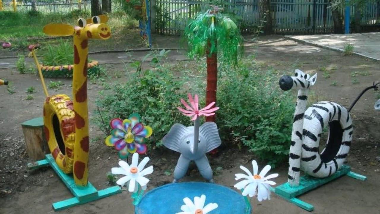 оформление летнего участка в детском саду своими руками фото