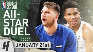 Giannis Antetokounmpo vs Luka Doncic All-Star Duel Highlights 2019.01.21 - 31 Pts for Giannis