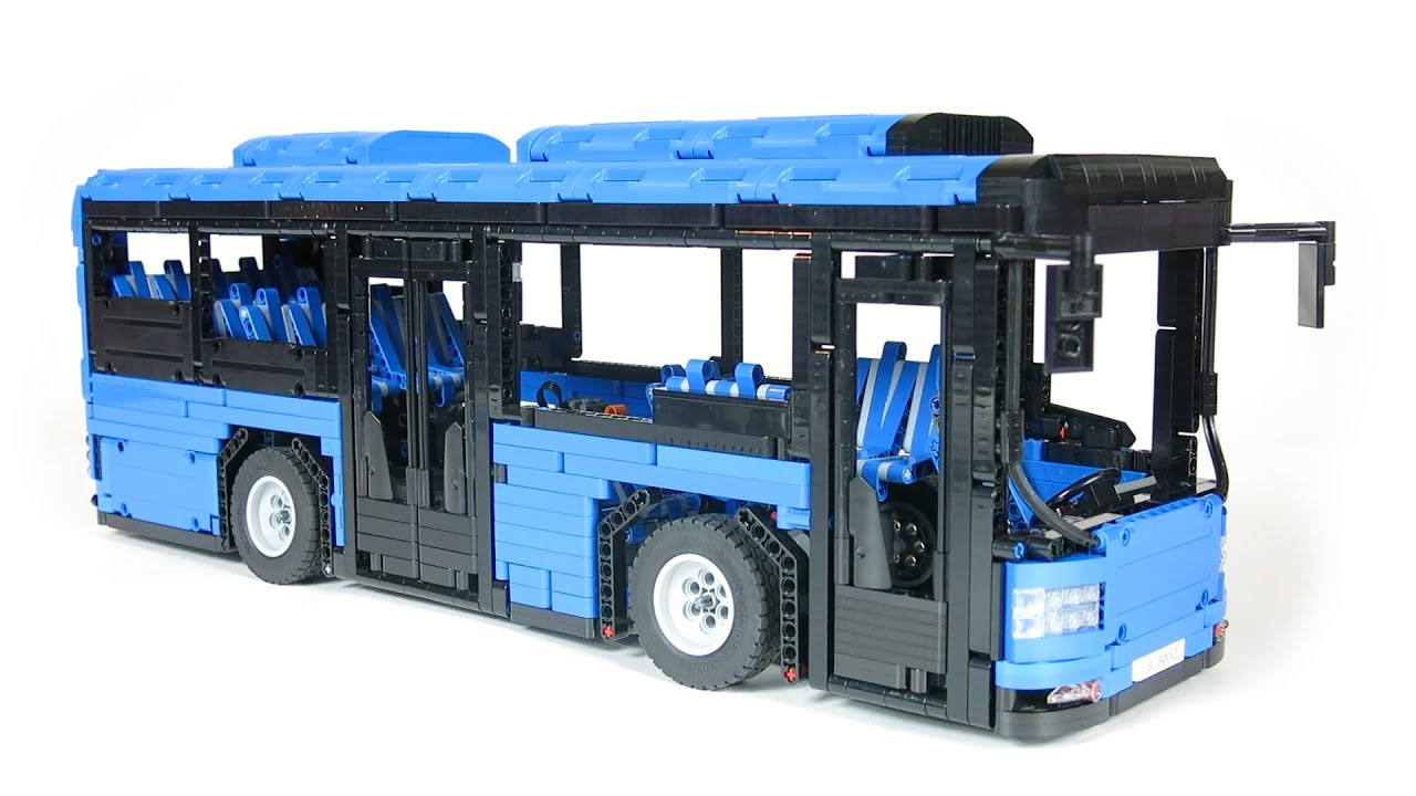 lego technic moc motorized bus youtube. Black Bedroom Furniture Sets. Home Design Ideas