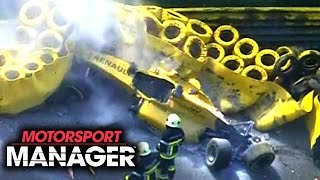 OUR DRIVER CRASHES INTO A WALL WTF! | Motorsport Manager PC