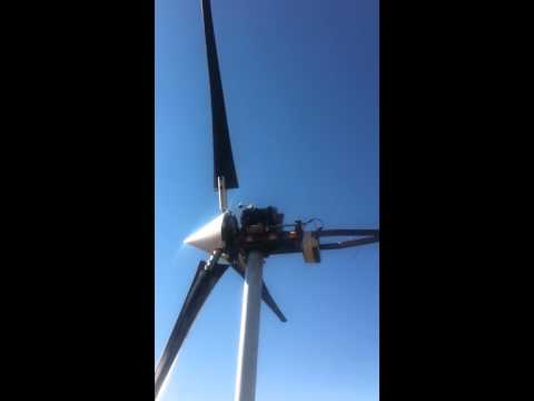 small scale wind turbine with active pitch control
