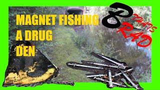 Magnet Fishing a drug den