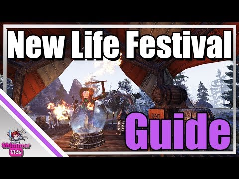 ESO: New Life Festival Guide!  Crystalfrost Skin - Quests - Reward Boxes