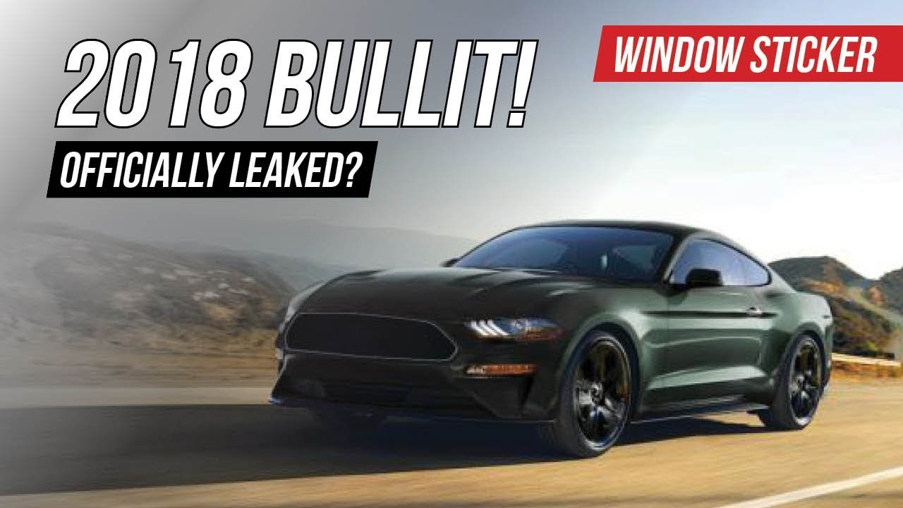 2018 bullitt mustang officially unofficially leaked