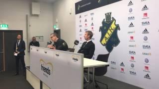 Presskonferens efter AIK - Östersund.