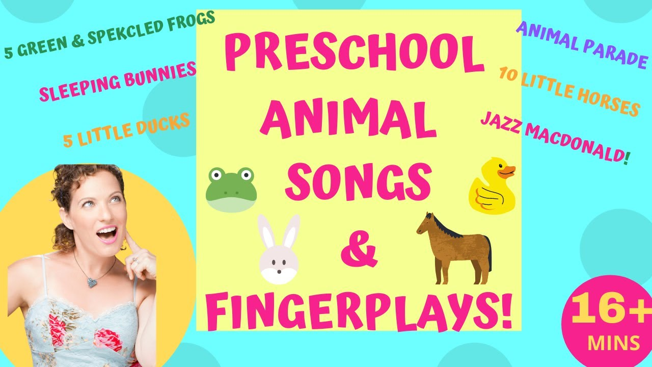Preschool Animal Action Songs and Fingerplays | 5 Green & Speckled Frogs, Sleeping Bunnies & More!