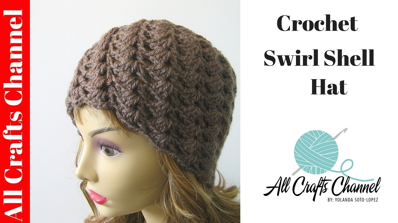 How To Crochet A Swirl Pattern Beanie Half Shell Stitch Con