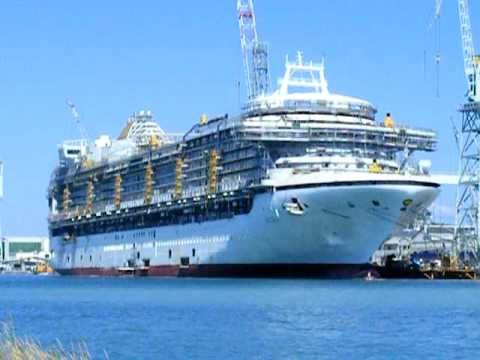 AZURA @ Fincantieri shipyard Monfalcone, Italy - YouTube