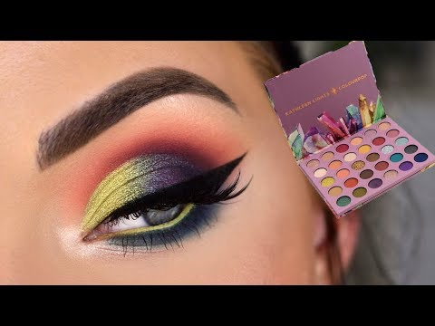 ColourPop x Kathleen Lights SO JADED Palette | Colorful Eye Makeup Tutorial thumbnail