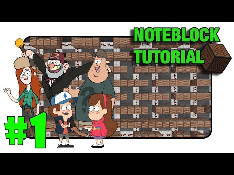 "Gravity Falls ""Theme"" - Note Block Tutorial PART 1 (Minecraft Xbox/Ps3)"