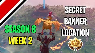 Fortnite Season 8 Week 2 Secret Banner / Battle Star Location (Discovery Challenges)