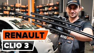 How to replace Windscreen wipers RENAULT CLIO III (BR0/1, CR0/1) Tutorial