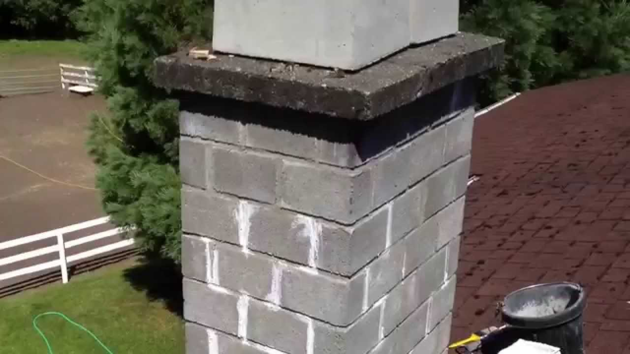 repair cracked chimney bricks cap latex caulk elastomeric coating