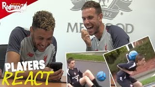 Henderson and Oxlade-Chamberlain React to 16 Year Old Hendo's Skills Video!