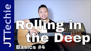 How to Play Rolling in the Deep by Adele on Acoustic Guitar for Beginners | Easy | BASICS #4