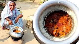 TRADITIONAL & Healthy Magur Mach Bhapa into Rice by Grandmother | Cooking Indian Village Fish
