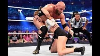 WWE Wrestlemania 34  Kurt Angle & Ronda Rousey vs  Stephanie McMahon & Triple H   YouTube