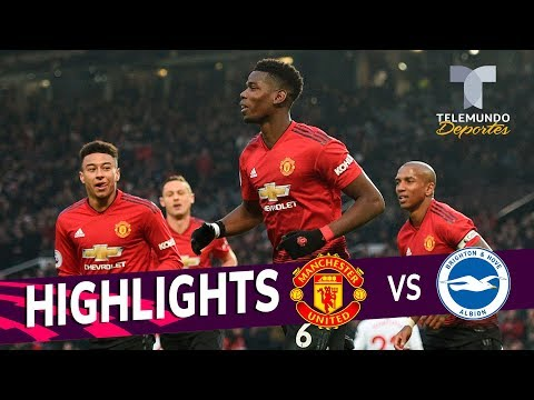 Manchester United vs. Brighton: 2-1 Goals & Highlights | Premier League | Telemundo Deportes