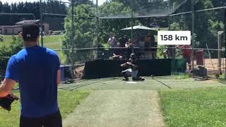 미국 독립리그 야구 투수 구속 156-161 km