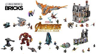 Lego Marvel Super Heroes Avergers Infinity War Compilation of All Sets Lego Speed Build
