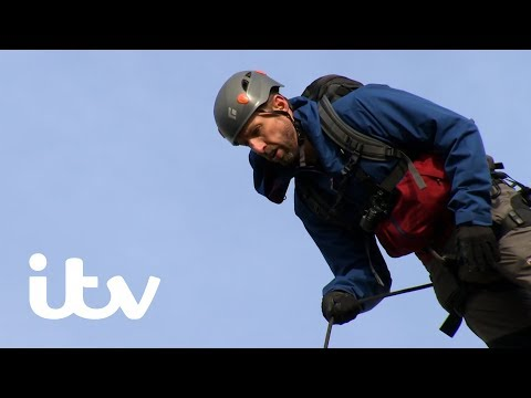 Bear's Mission With Gareth Southgate | Bear Challenges Gareth With a Front Facing Abseil! | ITV