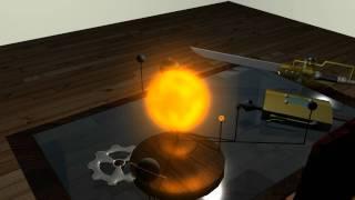 High Def solar system toy in 3d room Maya 2011