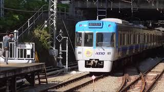 京王井の頭線 1000系1707F編成リニューアル車 明大前駅発車