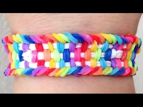 Como fazer pulseira de elástico: Weavezilla (modelo novo) #LoomBands (sem tear)