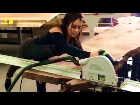 Most Amazing Wood Products by Beautiful Girls in WoodWorking Process You MUST See 2018