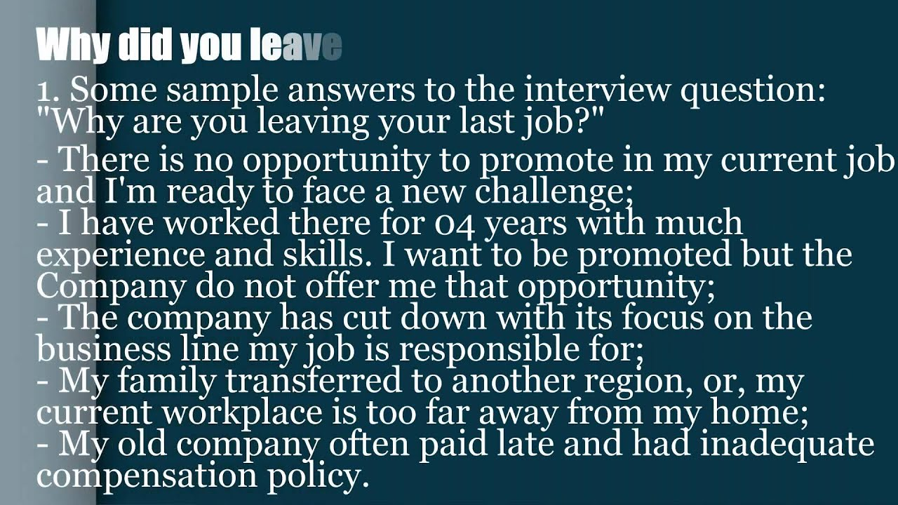 Common Interview Questions And Answers - Resume Examples