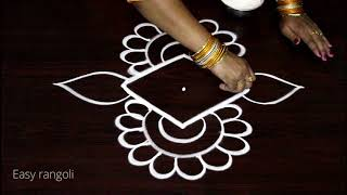 creative and easy rangoli designs with dots * simple kolam designs * muggulu designs with colors