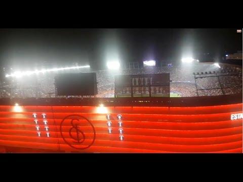 Así ruge el nuevo Ramón Sánchez-Pizjuán con el himno de la Champions League