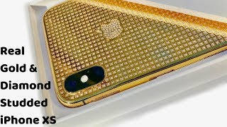 Real Gold iPhone Xs & Apple watch | Diamond studded iPhone