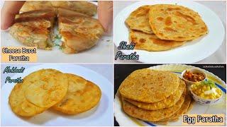 4 Best Paratha Recipe   Recipe Compilation   My Kitchen My Dish