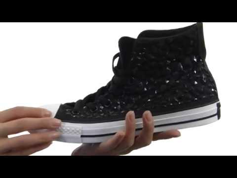f11bdf3be418 Converse Chuck Taylor® All Star® PU Rhinestone Hi SKU  8204955 - YouTube